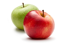 Two 18 Count Boxes Of Apples <BR>  (Save On Shipping)